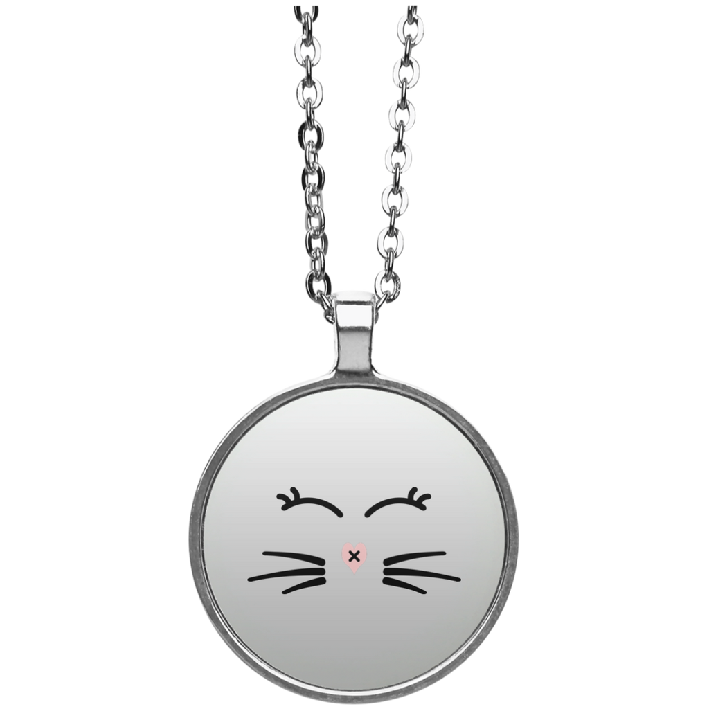 Whiskers and Lashes Circle Necklace - BinXzay