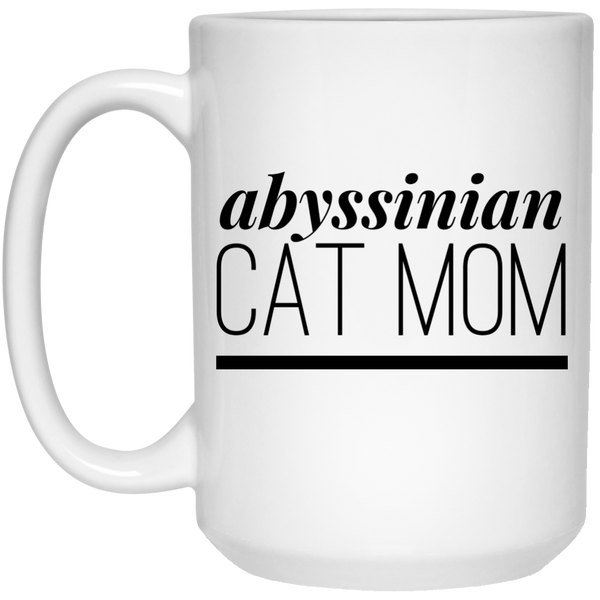 Abyssinian Cat Mom 15 oz. Mug - BinXzay
