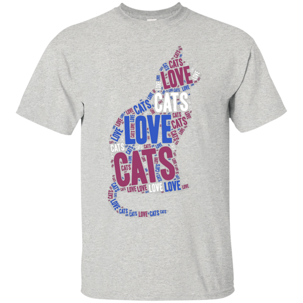 Love Cats Word Cloud Unique T-Shirt