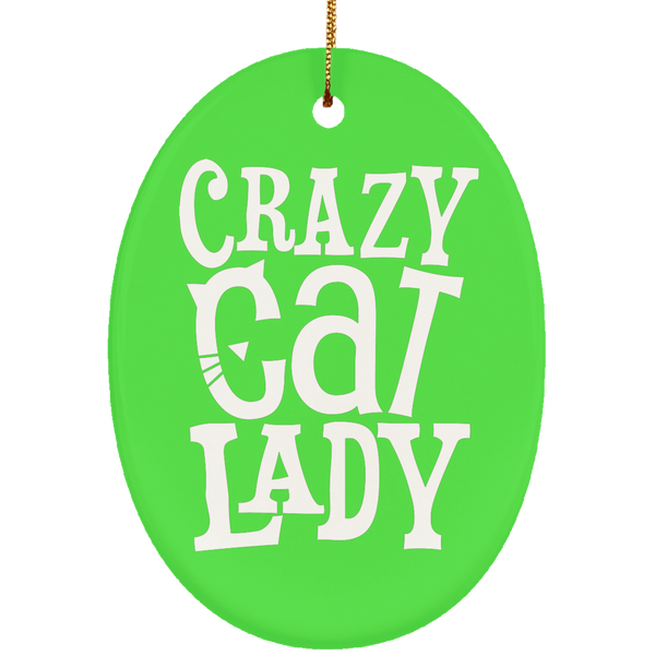 Crazy Cat Lady Ceramic Oval Ornament