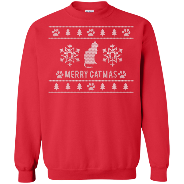 Merry Catmas Ugly Sweater Design Sweatshirt - BinXzay