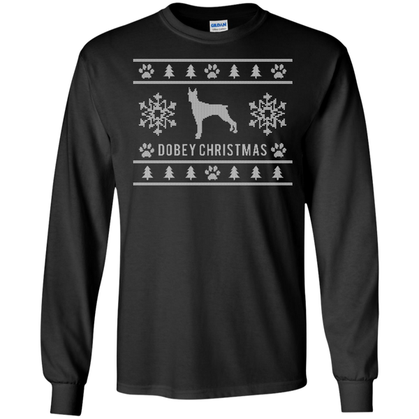 Dobey Christmas Ugly Christmas Sweater Design Long Sleeve Tshirt - BinXzay