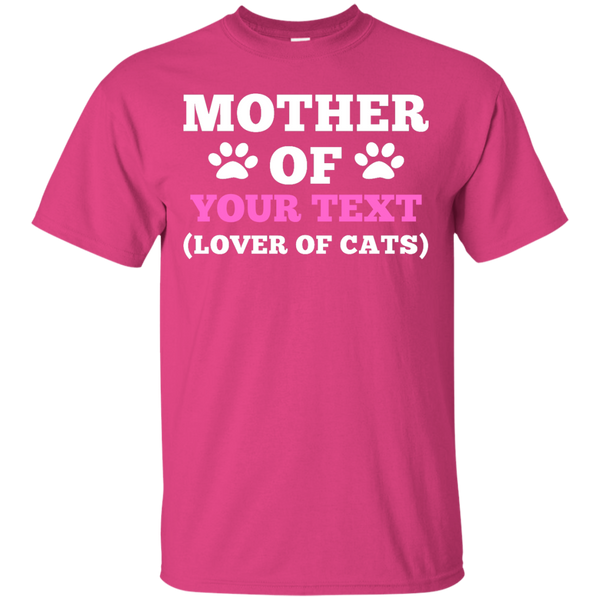 Personalized Custom Mother of Cats T-Shirt with Your Cat's Name - BinXzay