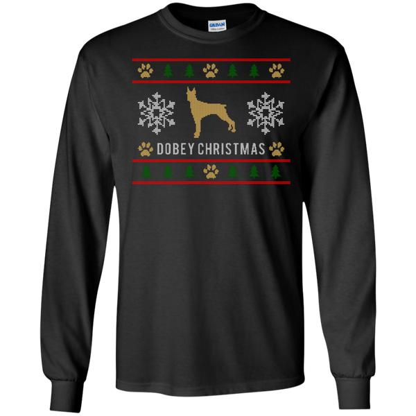 Dobey Ugly Christmas Sweater Color Design Long Sleeve Shirt - BinXzay