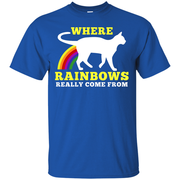 Where Rainbows Really Come From Cat T-Shirt
