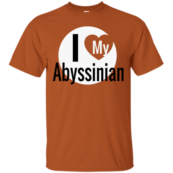 I Love My Abyssinian Cat T-Shirt - BinXzay