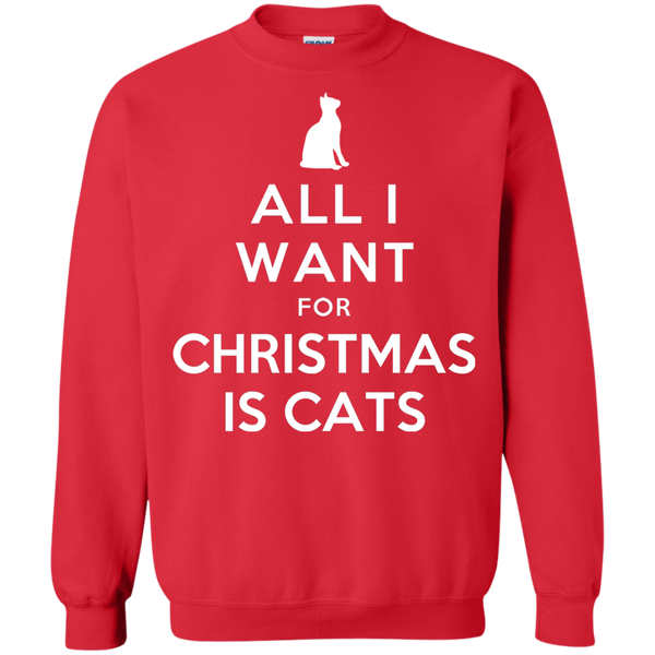 All I Want for Christmas is Cats Pullover Sweatshirt - BinXzay