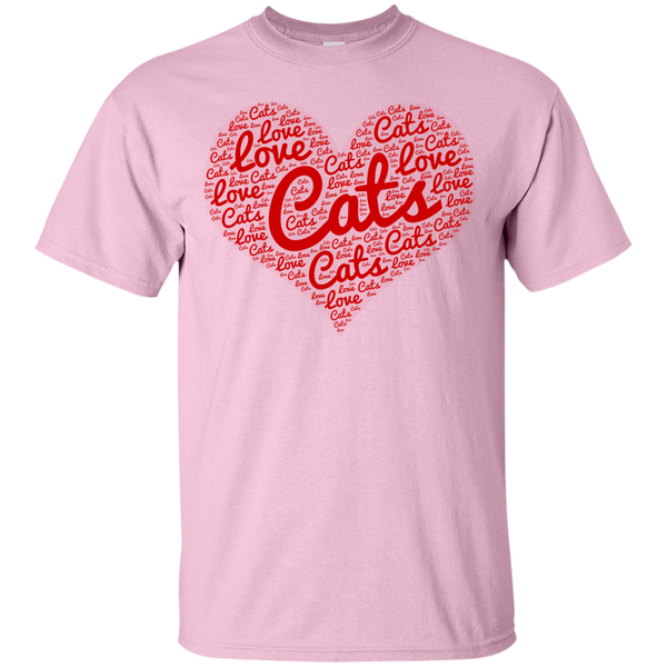 Love Cats Heart T-Shirt - BinXzay