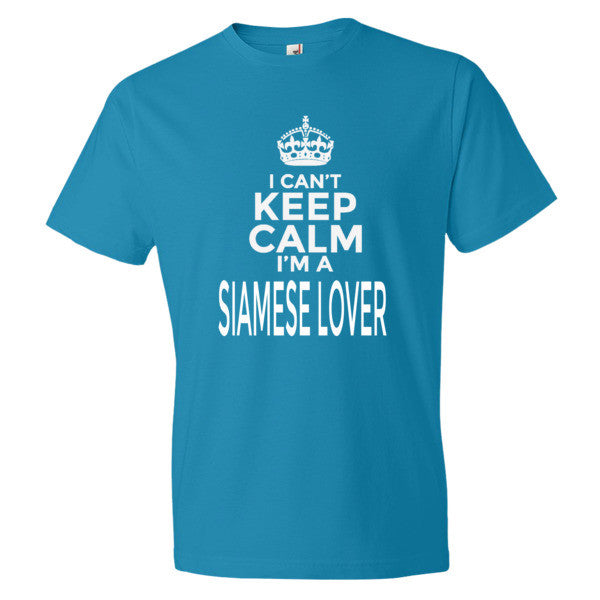 I Can't Keep Calm I'm a Siamese Cat Lover TShirt - BinXzay