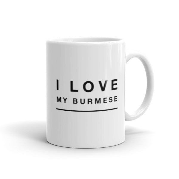I Love My Burmese Cat Coffee Mug - BinXzay