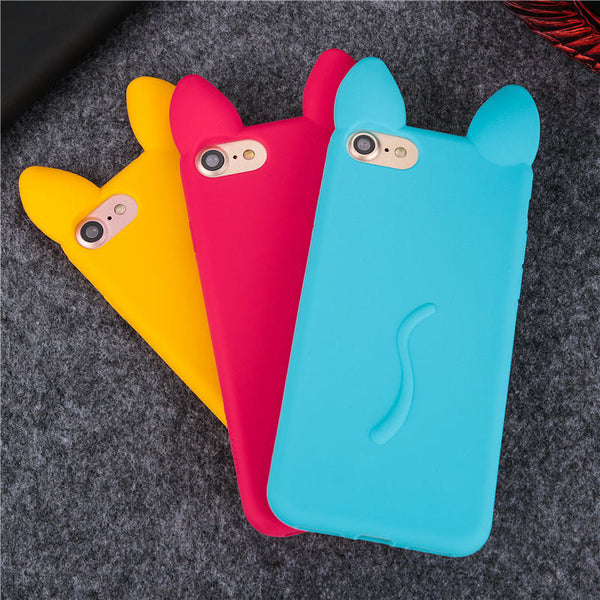 Cat Ear 3D Soft Cover Skin iPhone Case - BinXzay