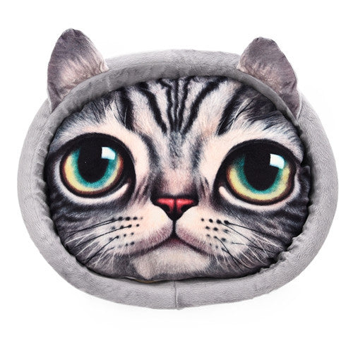 3D Realistic Cat Face Bed