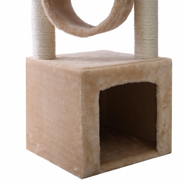 "Deluxe 36"" Cat Tree Condo Furniture with Scratch Post (Beige)"