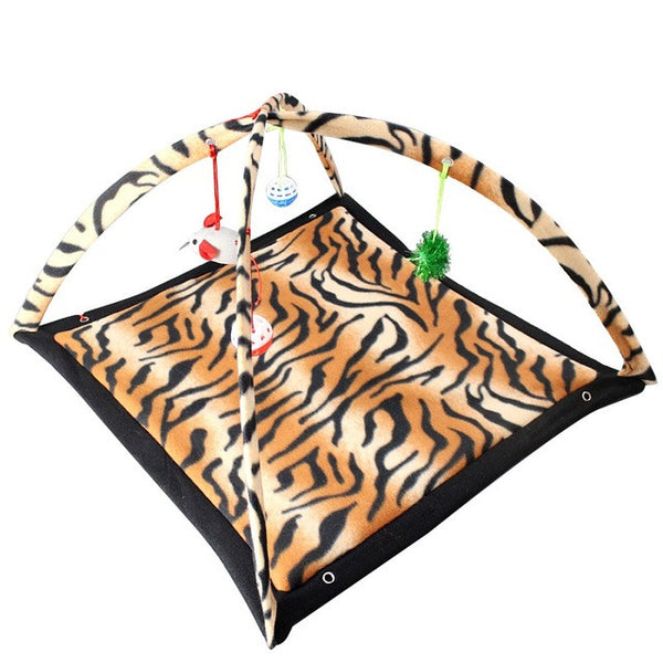 Cat Hammock Bed and Play Sleeping Furniture Tent with Balls