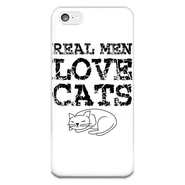 Real Men Love Cats iPhone 5-5s Plastic Case