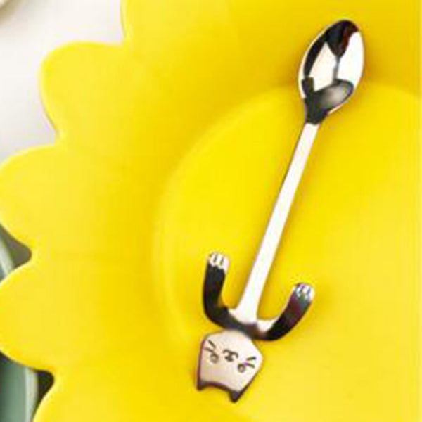 Stainless Steel Cartoon Cat Spoons