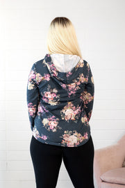 Beautiful Days Navy Floral Hoodie