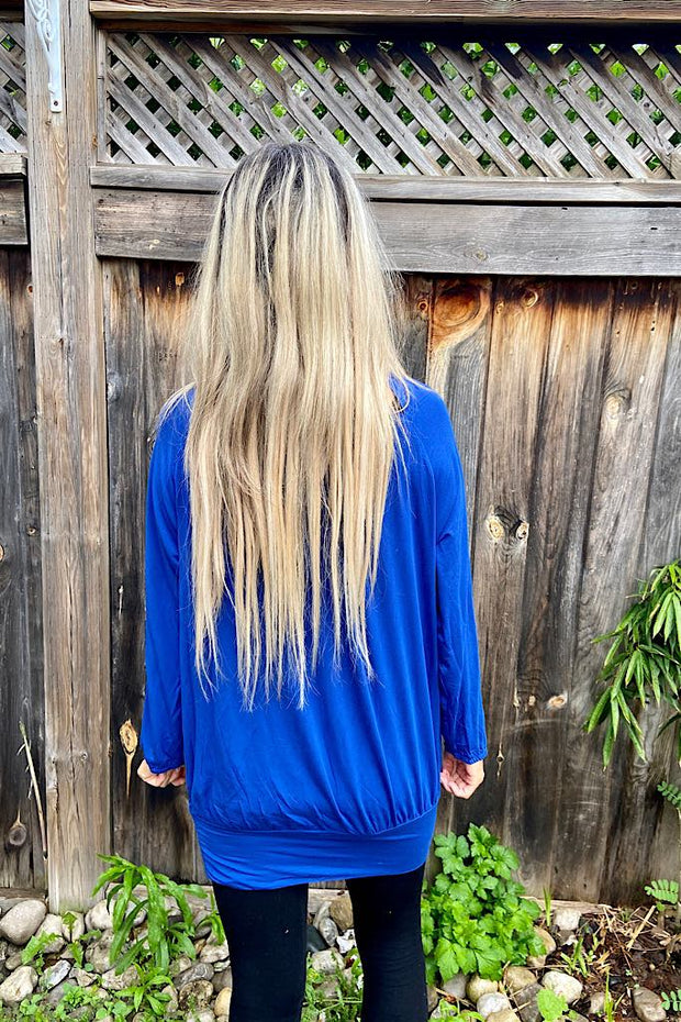 Royal Blue Gold Accent Top