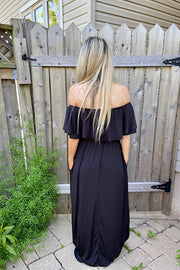 Black Dressy Off The Shoulder Dress
