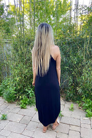 Black Soft Perfect Fit Midi Dresses