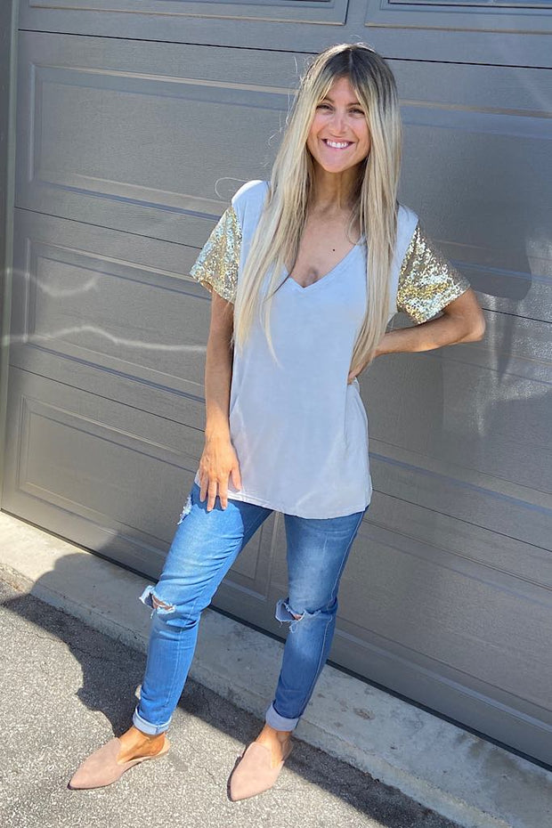 Glow And Glam Sequin Top