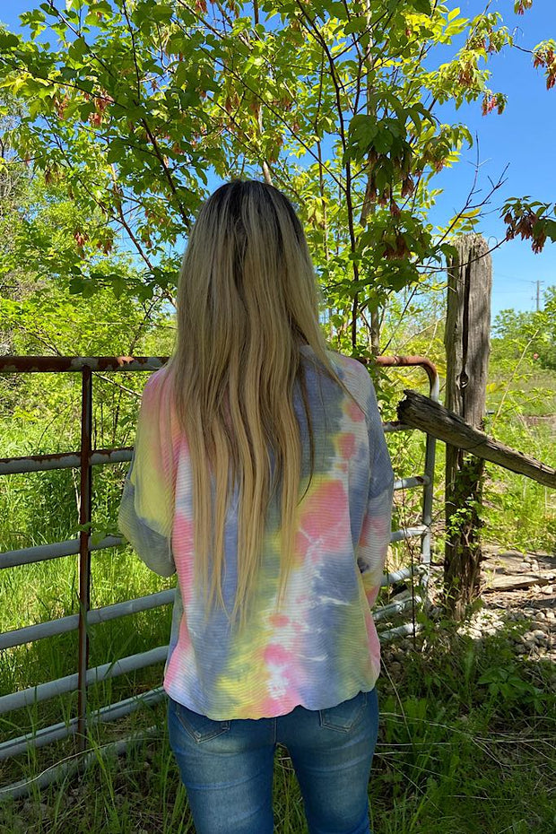 Tie Dye Pretty Long Sleeve Top