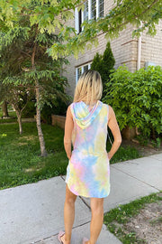 Tie Dye Sweetie Hoodie Dress