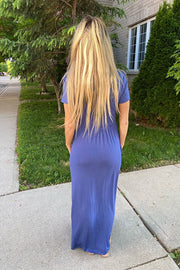 Pretty Blue Maxi Dress