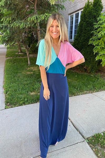 The Carrie Colourblock Maxi Dress