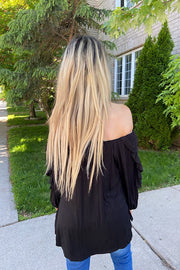 Darling Black Off The Shoulder Top
