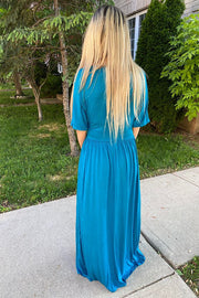 Stunning Teal Maxi Dress