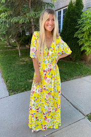 Yellow Summer Nights Maxi Dress