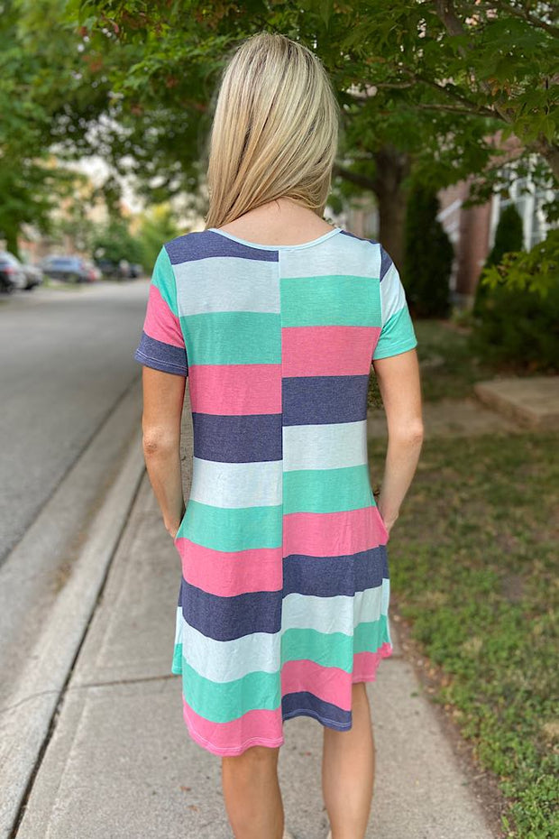 Colourblock Picnic Dress