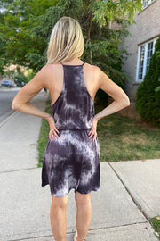 Black Flirty Tie dye Dress