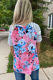 Pretty In Pink Floral Knot Top