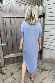 The Perfect Summer Dress- Steel Grey
