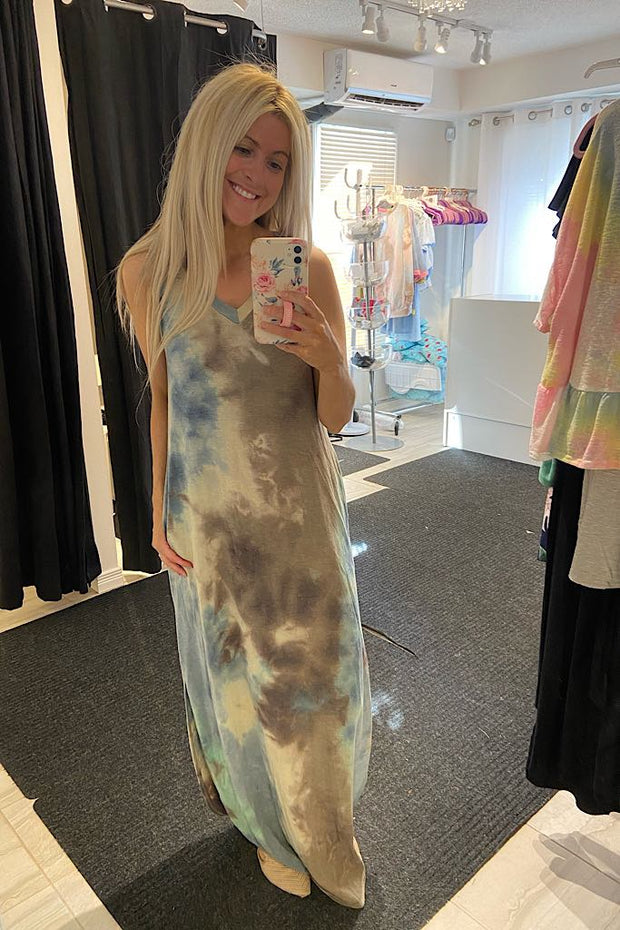 Tie Dye Love Maxi Dress- Marked down