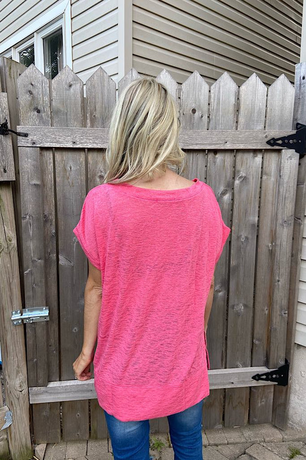 Pink Coral Summer Heat Top