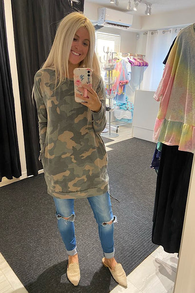 Camo Effortless Pocket Tunic