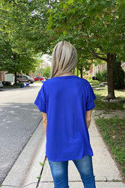 Perfect Royal Blue V Neck Staple Top