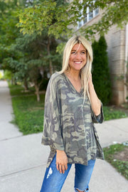 Camo Explore All Day Top
