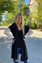 Black Lace Love Cardigan