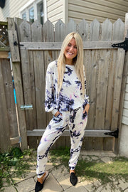 Tie Dye Cashmere Feel 2 Piece Jogger Set
