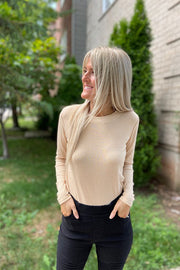 Simply Perfect Taupe Ribbed Top