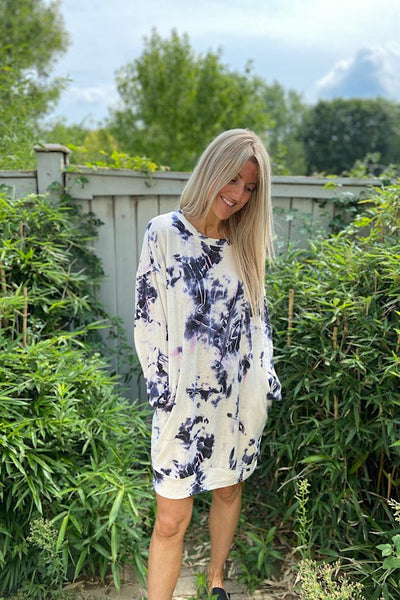 Cashmere Feel Tie Dye Dress