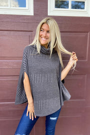Uniquely Yours Charcoal Poncho- Door Buster