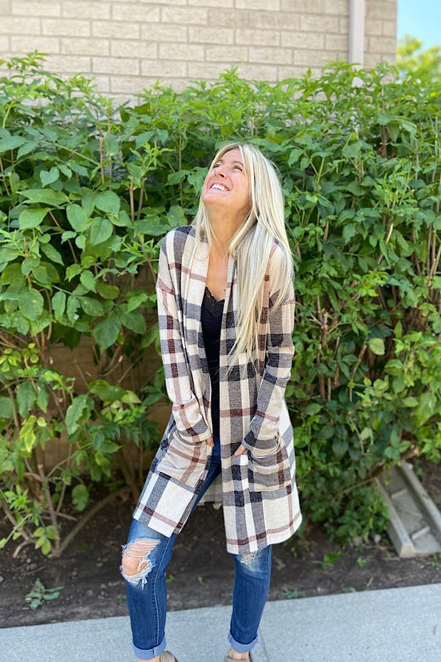 Pre Order Stunning Plaid Delight Cardigan