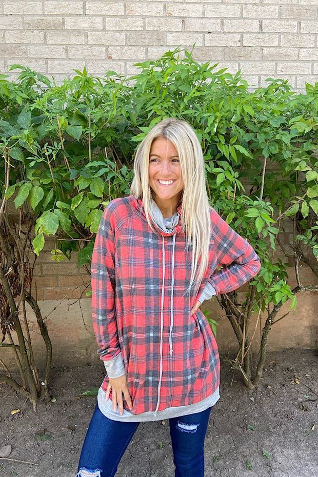 The Girl Next Door Plaid Tunic Top