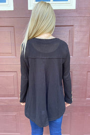 Serendipity Black Waffle Top