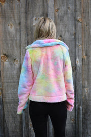 Wishing On A Rainbow Sherpa Sweater Coat